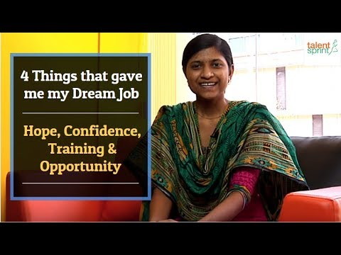 #MyStory - 4 Things that gave me my Dream Job - Hope, Confidence, Training & Opportunity.