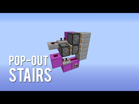 Redstone: Pop-Out Stairs [Tutorial]