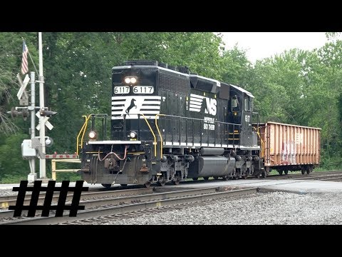 NS EMD SD40-2 6117 Symbol 91N with MOW Gondola NS 997201 Heading to Huntingdon Yard