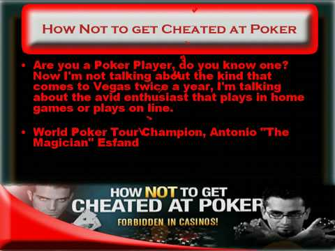 How Not to get Cheated at Poker