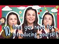 Learn the Top 10 English Lines you Need for Introducing Yourself Mp3