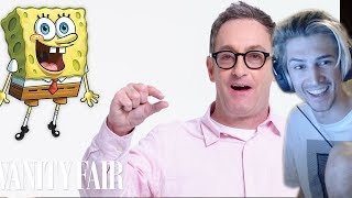xQc Reacts to Tom Kenny (SpongeBob) Reviews Impressions of His Voices   Vanity Fair