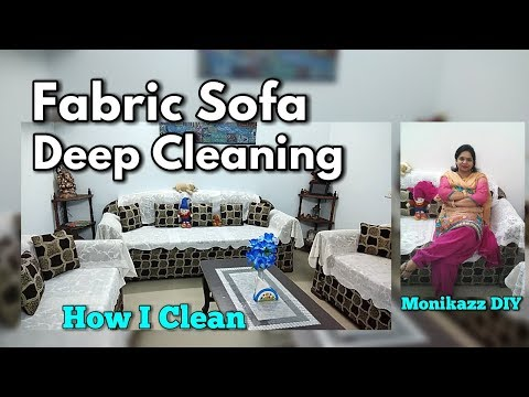 How I Clean my Sofa at home / Weekly Sofa Deep Cleaning Routine / Sofa Cleaning tips - Monikazz DIY
