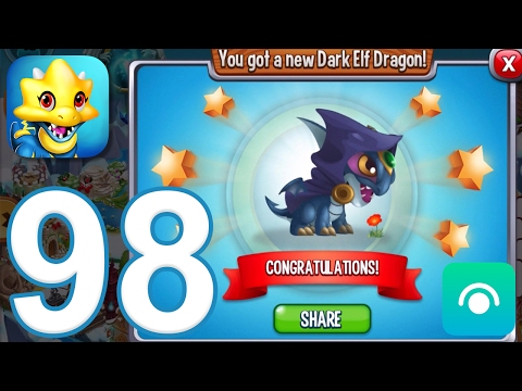 Dragon City - Gameplay Walkthrough Part 98 - Level 43, Dark Elf Dragon (iOS, Android)
