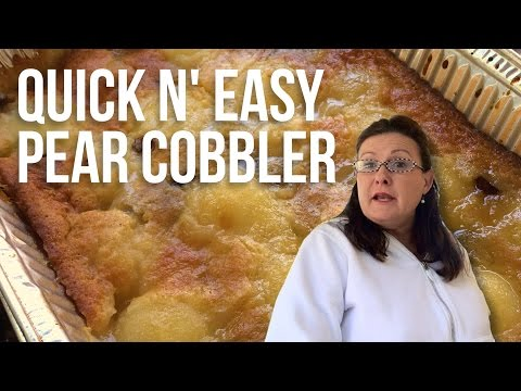 Quick N' Easy Pear Cobbler with Tina the Grilla Girl