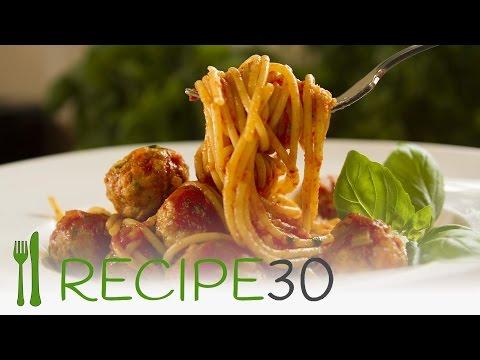 CHICKEN MEATBALLS SPAGHETTI  - By www.recipe30.com
