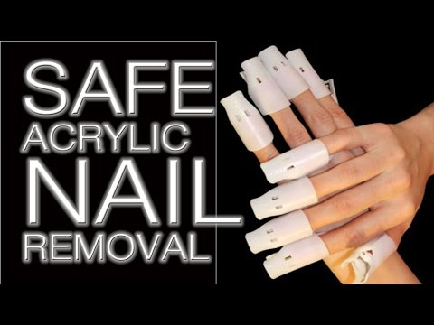 How to safetly remove acrylic nails