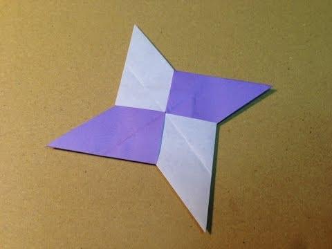 Origami Ninja Star (Shuriken) with One Sheet of Paper