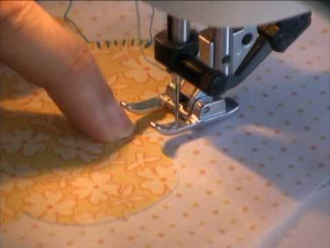 Machine Blanket Stitch Applique