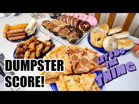 Huge Jackpot Dumpster Diving For Food!!!