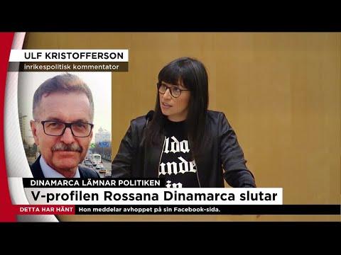 Rossana Dinamarca lämnar poltiken - Nyheterna (TV4)