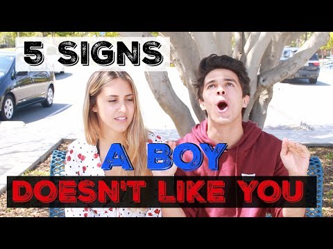 5 SIGNS A BOY DOESN'T LIKE YOU! | Brent Rivera