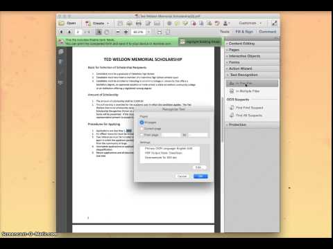 Editing Text with Adobe Pro XI