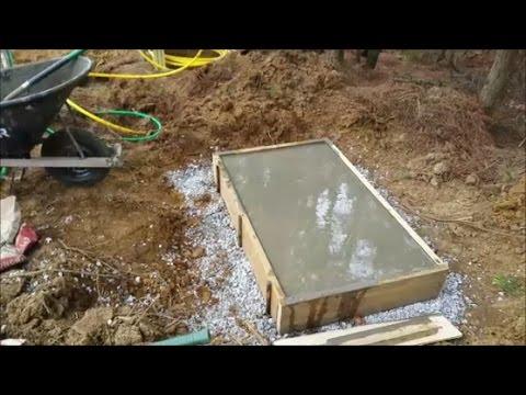 DIY making concrete pad for Generator