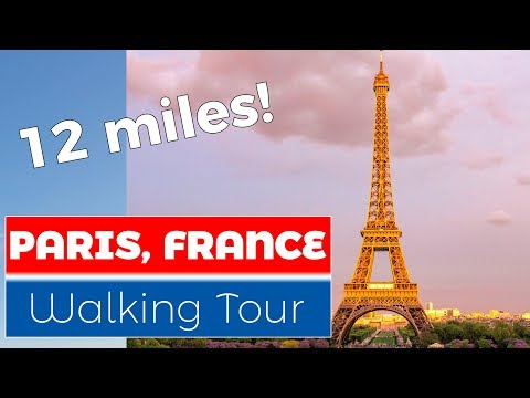 Paris, France Walking Tour (Natural Sound)