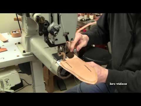 Leathercraft: Knife sheath making | Leather Stitching Machine Sewing Handmade Knife Sheath Holsters