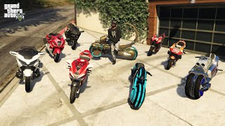GTA 5 - 🔥 Stealing 2021 Luxury Super Bikes with Franklin (Real Life Bikes #04)