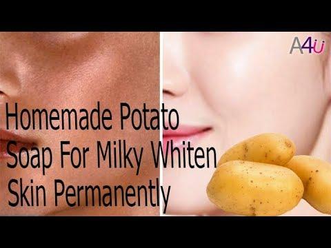 Homemade Potato Soap For Milky Whiten Skin Permanently