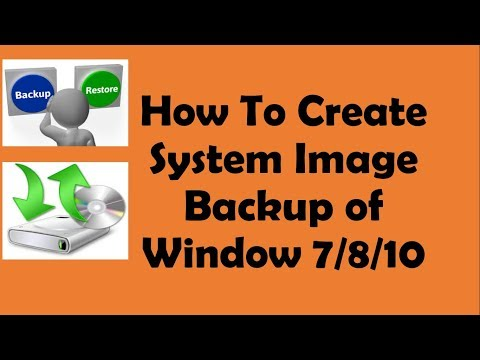 How to Create Backup for Windows 7/8/10