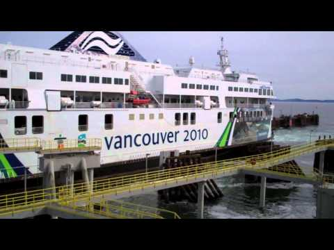 BC Ferries Vancouver 2010 Ferry Docking at Tsawwassen in 2011