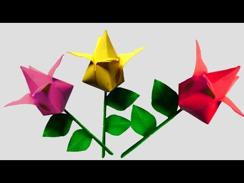 Origami Flower Tulip Very Easy