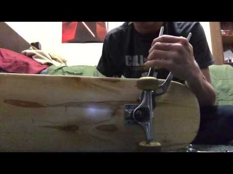 How To take the trucks and wheels off a skateboard