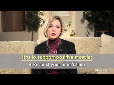 Tips to Support Positive Team Morale