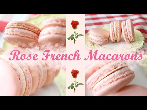 Rose French Macarons  - How To Easy Baking Tutorial
