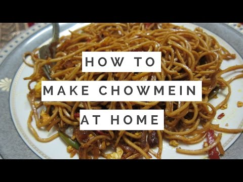 How to make Chow mein at home with twist and with simple and easy  steps