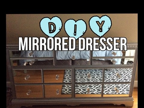 DIY MIRRORED DRESSER (for a fraction of retail)