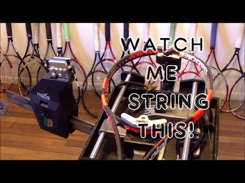 How to String a Tennis Racquet: Full String Job - Prince Neos - Babolat Pure Strike 16x19