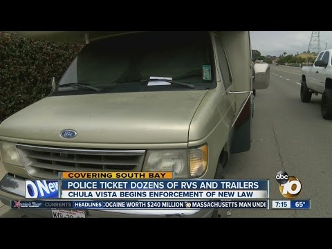 Police ticket dozens of RVs and trailers
