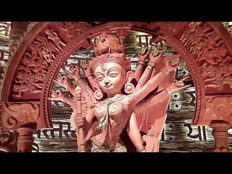 Chetla Agrani Durga Puja 2017 - Most creative Durga Pratima art form in wooden texture