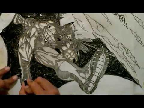 Batman: Hand cut sticker!