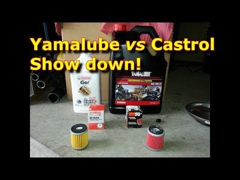 Yamalube vs Castrol, Synthetic vs Regular, K&N Oil Filter vs. OEM Oil Filter Yamaha WR250R