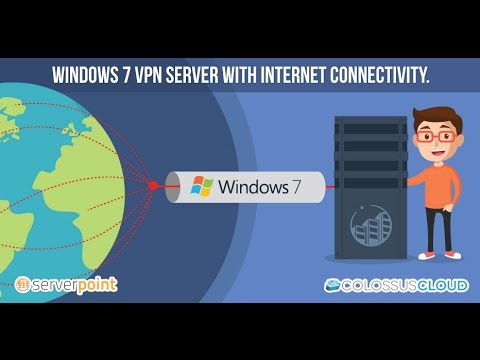 How to setup Windows7's VPN server.