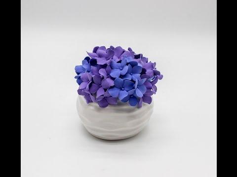 DIY Deco Clay Flower Tutorial | How to make Hydrangeas