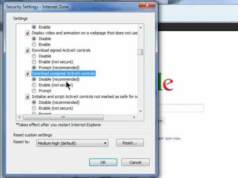 Unblock ActiveX to View HTVSI DVR through Internet Explorer