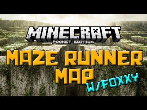 MAZE RUNNER Map w/Foxxy - Minecraft Pocket Edition