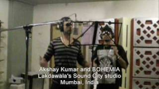 Akshay Kumar & BOHEMIA hanging out and working in the studio (Rare Video)