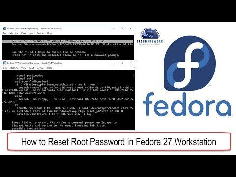 How to Reset Root Password in Fedora 27-28 Workstation Step by Step Procedure