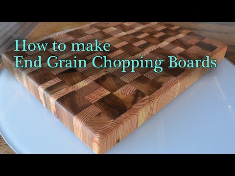 How to make end grain cutting boards / chopping boards - JordsWoodShop