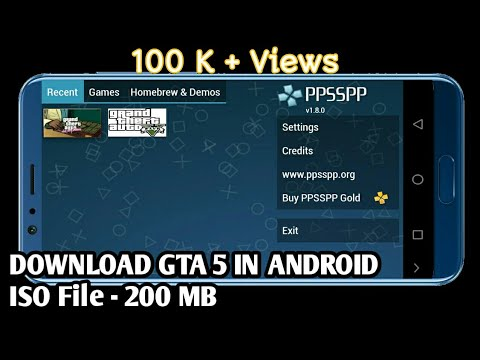 150MB] Download GTA 5 in PPSSPP gold emulator//Android Amit
