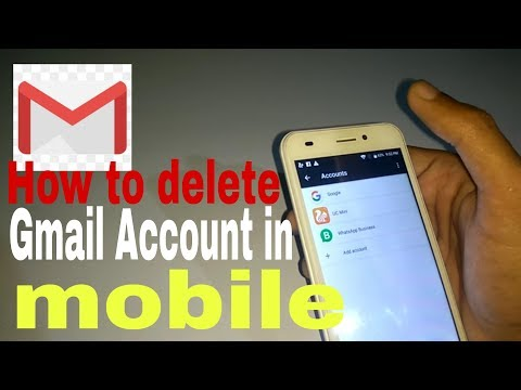 How to delete Gmail Account in mobile