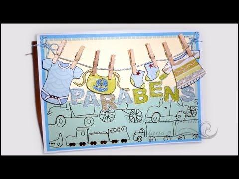 Baby Card & Digital Stamp Set - Cartão Para Bebê ( Parabéns )
