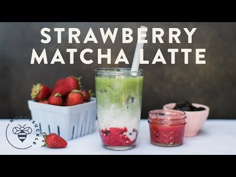Strawberry Matcha Latte (Asian Tea) - COFFEE BREAK SERIES - Honeysuckle