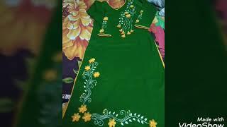 হাতের কাজের কিছু জামার ডিজাইন, Hater kajer jamar design.