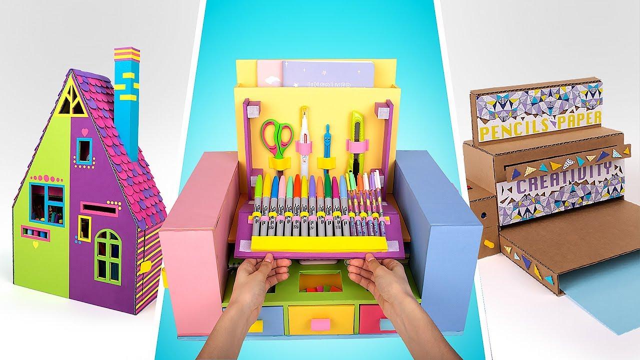 How To Make 3 Amazing Desk Organizers ✏️