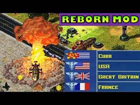 Red Alert 2 mod REBORN Cuba vs USA, Great Britain and France