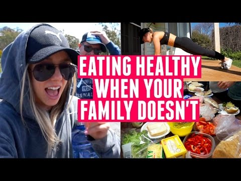 Eating Healthy When Your Family Doesn't | Farm Vlog + Backyard Workout